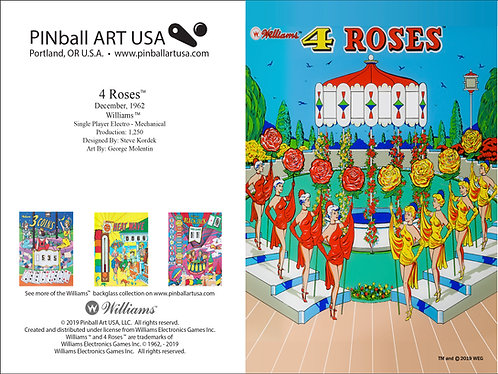 4 Roses Greeting Card