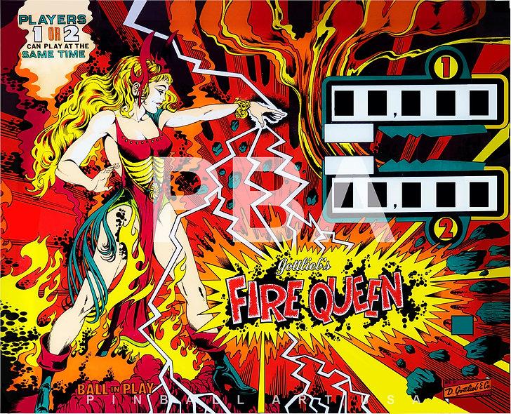 Gottlieb's Fire Queen by Gordon Morison