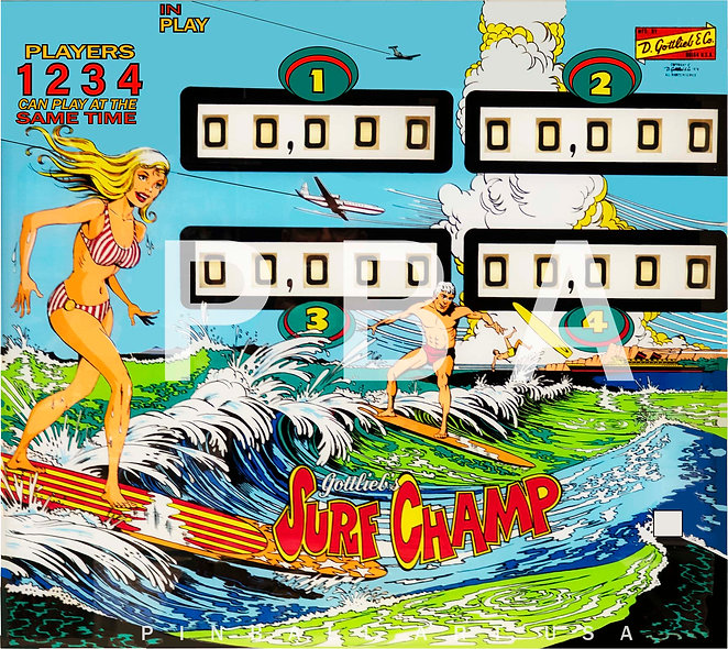 Gottlieb's Surf Champ by Gordon Morison