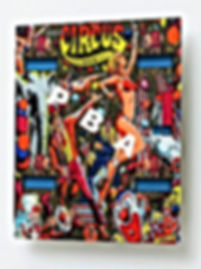 Circus pinball backglass metal art print