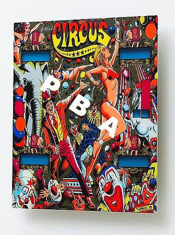 Circus Gottleib Pinball Art USA Pinball Backglass Art