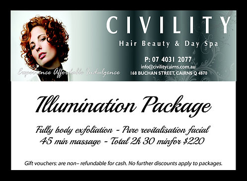 Illumination Package Gift Certificate
