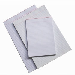 OFFICE PADS QUILL A5 BANK RULED WHITE 90LF 50GSM