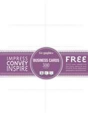 BUSINESS CARDS A4 BLANK WHITE 180GSM PK300