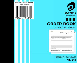 Olympic Order Book 640 Duplicate 100x125mm (07431)