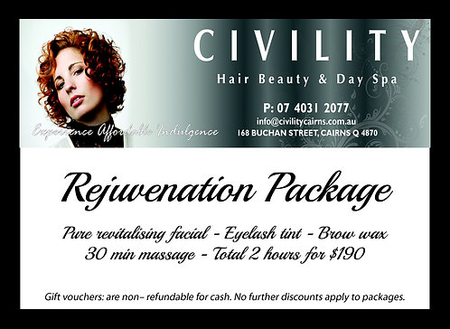 Rejuvenation Package Gift Certificate