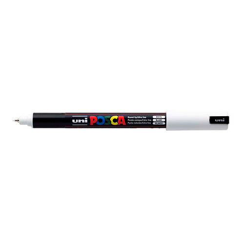 POSTER MARKER UNI POSCA PC1MR  POINT 0.7MM WHITE