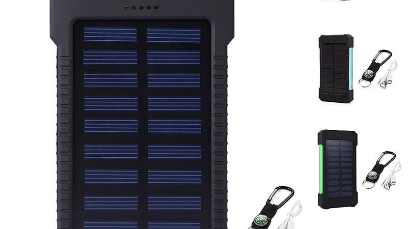 30000mAh Power Bank Dual USB Solar Charger Portable External Battery Pack