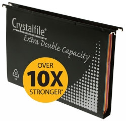 SUSPENSION FILES CRYSTALFILE PP DOUBLE CAPACITY 10PK W/TABS & INSERTS