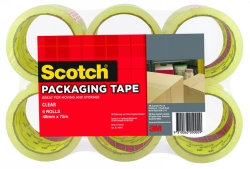 Scotch Packaging Tape Clear 48mmx75mm 6 Pk (25947)