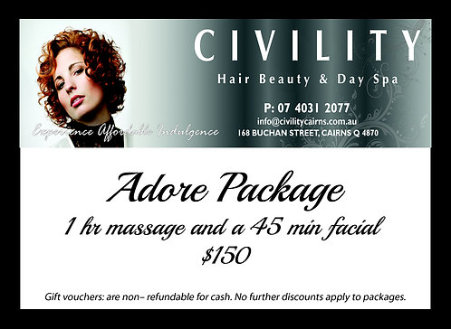 Adore Package Gift Certificate 1