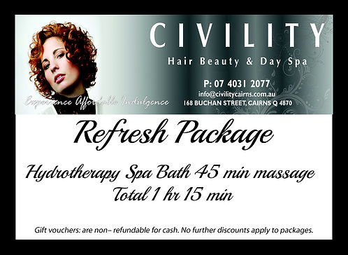 Refresh Package Gift Certificate