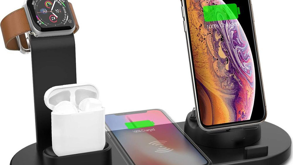 4 in 1 Wireless Charging Stand for Apple Watch/ iPhone/ Airpods  Docking Station