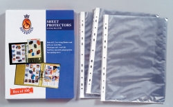 SHEET PROTECTORS SOVEREIGN A4 BX100