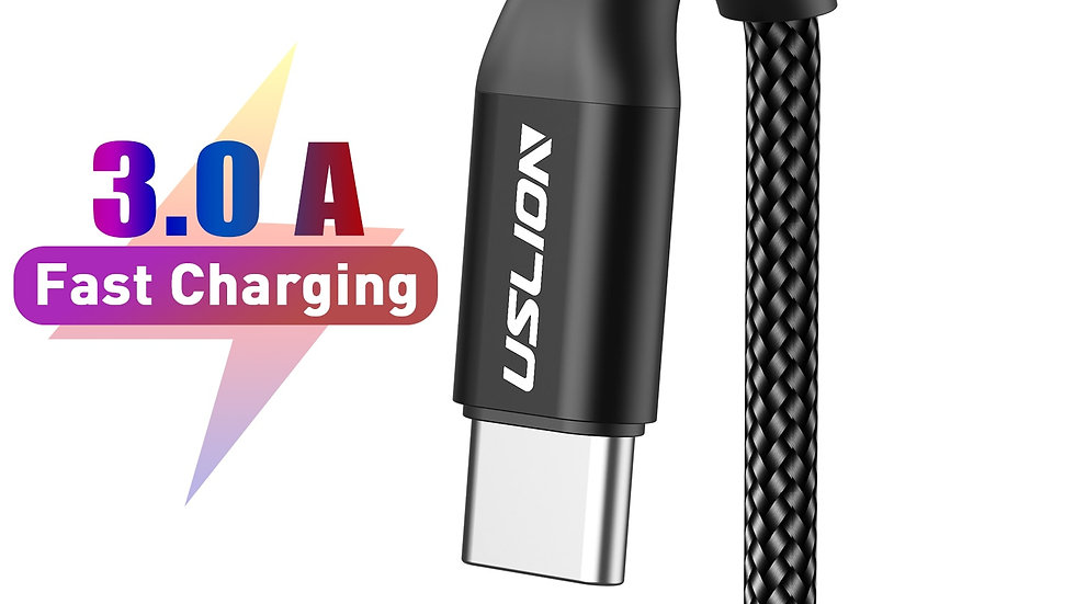 USLION 3A USB Type C Cable Fast Charging Cable