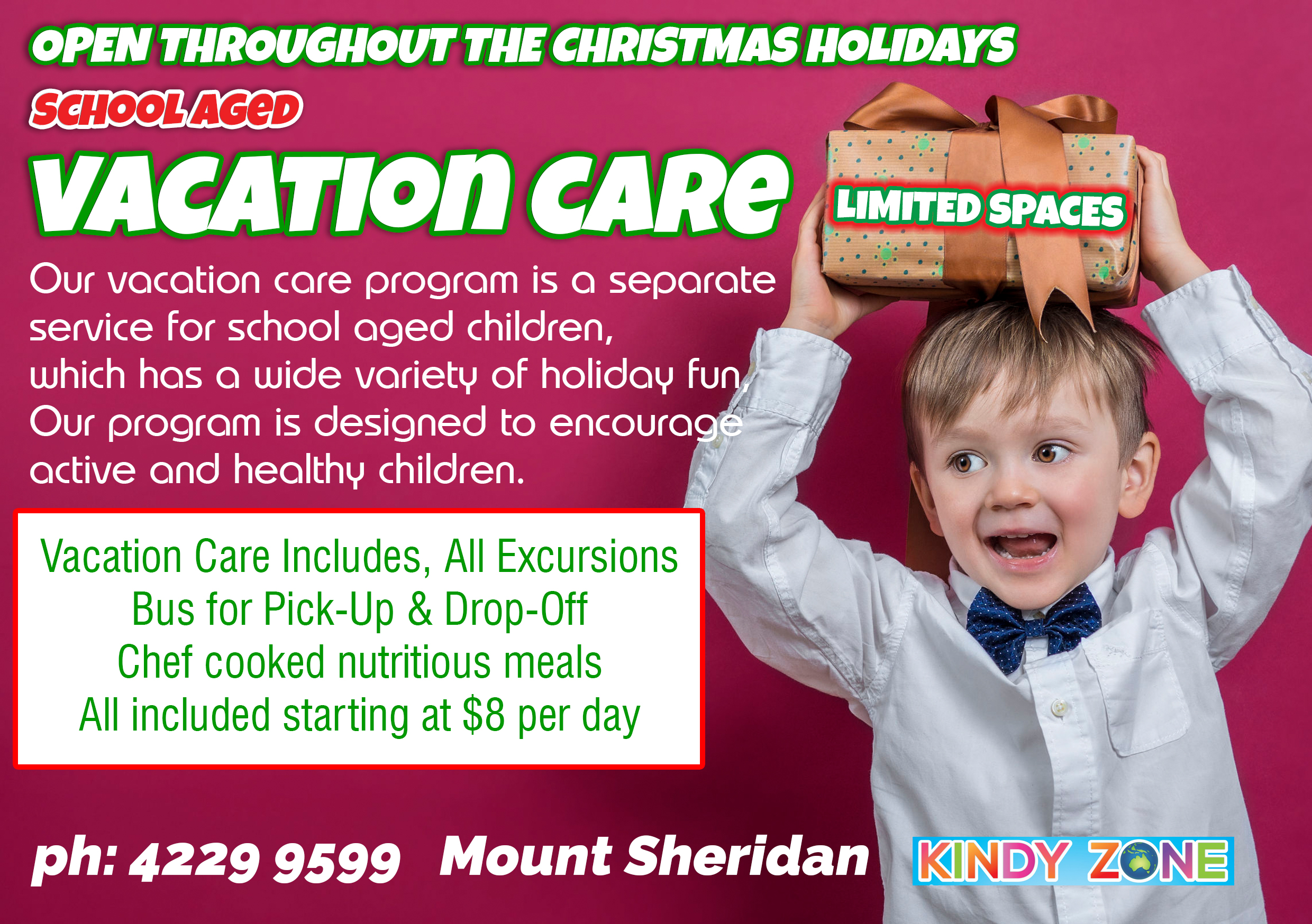 Vacation Care New 4 Kindy Zone