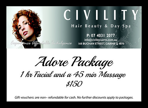 Adore Package Gift Certificate 2