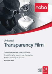 TRANSPARENCY FILM NOBO A4 INKJET HP UF0025 PK25
