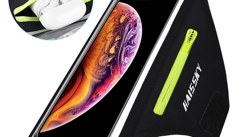 Large Running Sports Phone Case Arm Band for Phone & Airpods