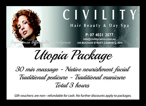 Utopia Package Gift Certificate