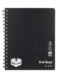 GRID BOOK SPIRAX P592G PP S/O 240PG BLACK 5 PK