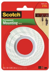 Scotch Permanent Mounting Tape 114   25.41mmx 1.3m