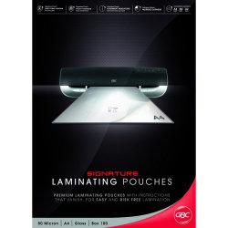 LAMINATING POUCHES GBC SIGNATURE (PREMIUM) A4 80 MICRON PK100