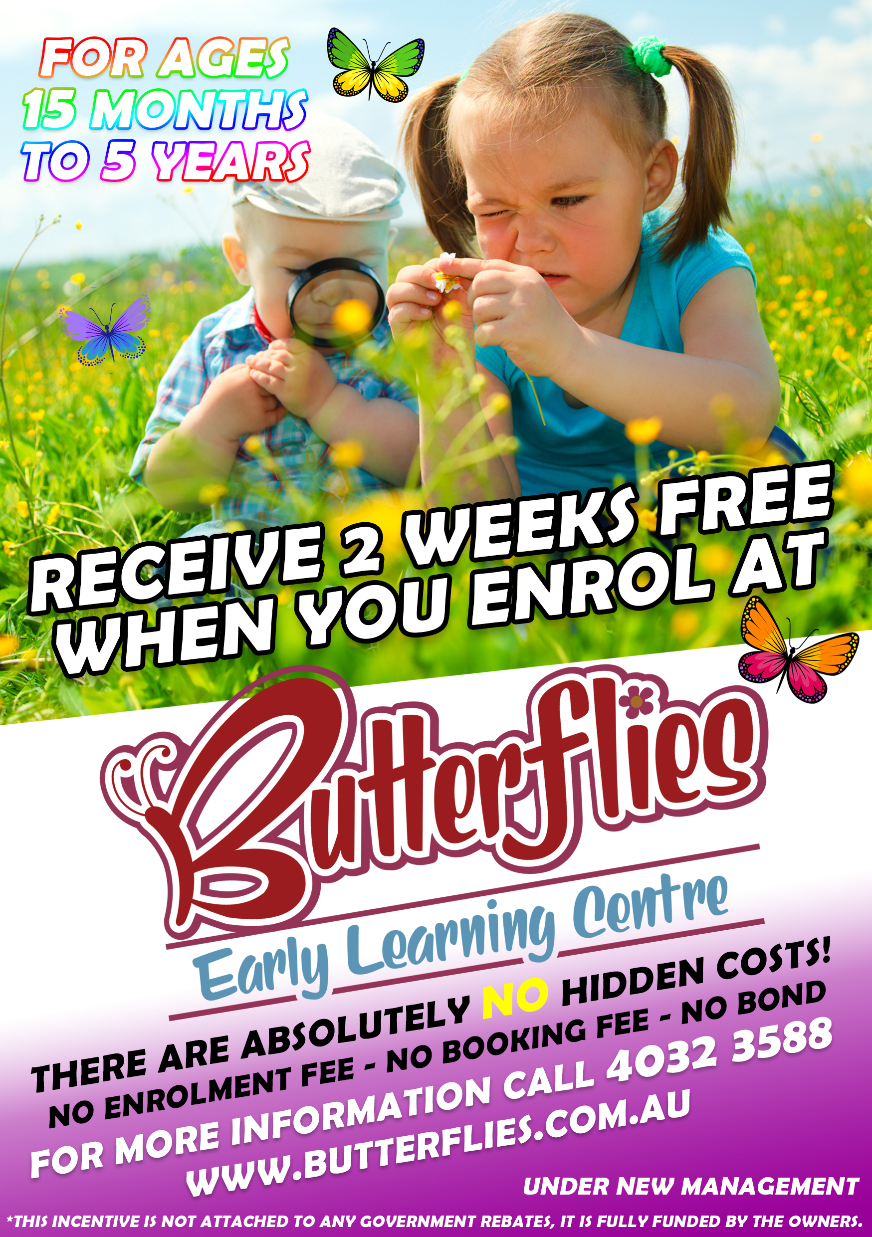 2 Weeks Free Butterflies