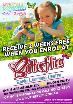 2 Weeks Free Butterflies