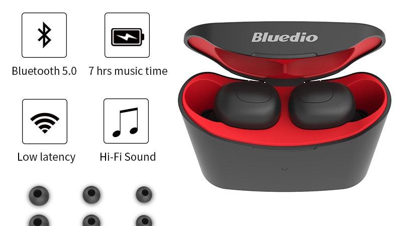 Bluedio TWS2 Twins True Wireless Earbuds Mini Bluetooth With Charging Box