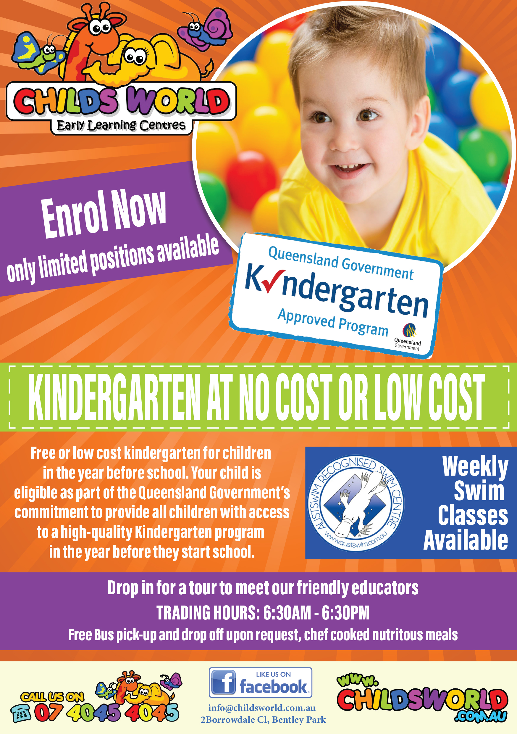 childs world kindergarten flyer boy