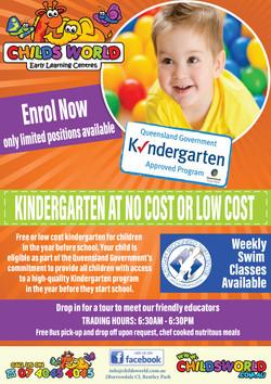 childs world kindergarten flyer boy