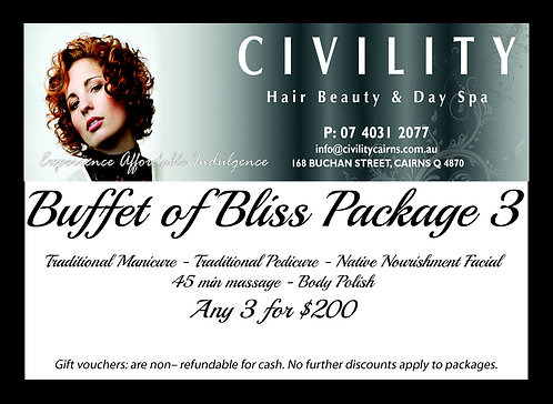 Buffet of Bliss Package Gift Certificate 3