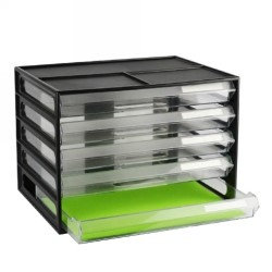 ITALPLAST GREENR RECYCLED 4 DRAWER OFFICE ORGANISER CABINET