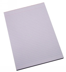 Office Pads A4 Ruled 100 Lf (33006) 10Pk