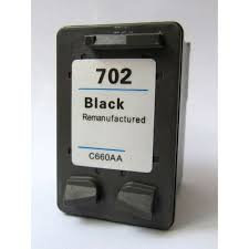 HP-702 Black  Remanufactured  Inkjet Cartridge
