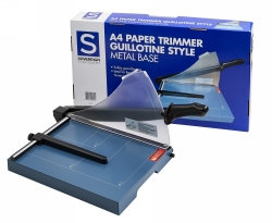 PAPER TRIMMER GUILLOTINE SOVEREIGN A4 METAL BASE WITH SAFETY GUARD