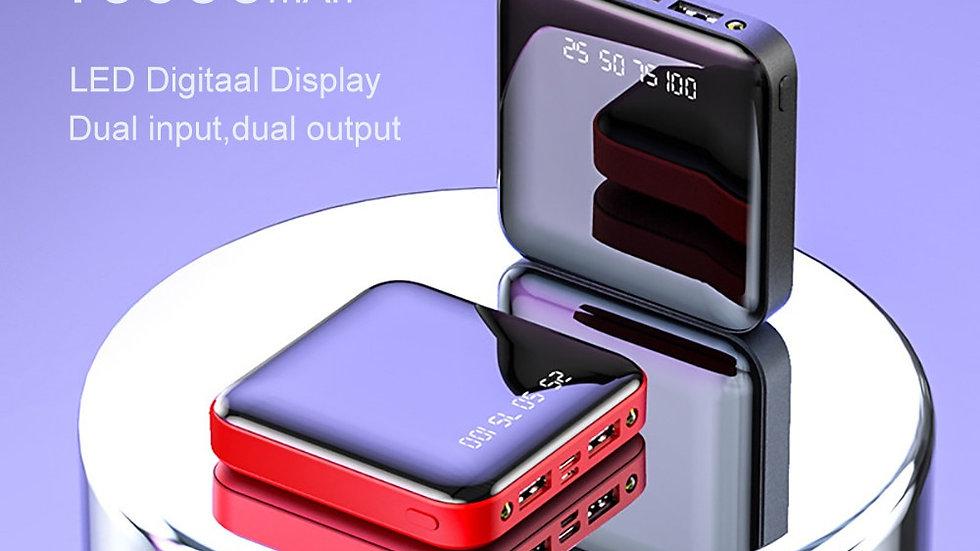 Mini 10000mAh Power Bank Portable Charger External Battery LED Digital Display