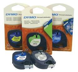 LABEL TAPE DYMO LETRA-TAG PLASTIC PEARL WHITE
