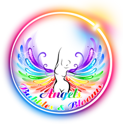 Angels Bubbles and Blooms Logo