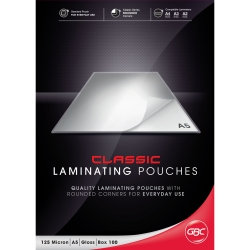 LAMINATING POUCHES GBC SIGNATURE A5 125 MICRON PK100