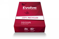 COPY PAPER EVOLVE A4 100% RECYCLED WHITE PK500