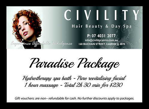 Paradise Package Gift Certificate