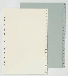 Dividers F/C POLYPROPYLENE Grey A-Z