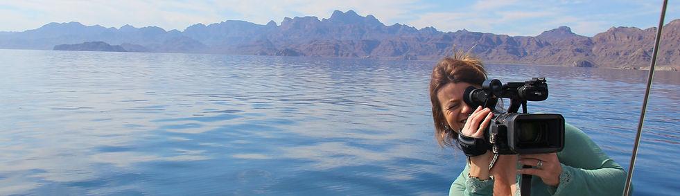 Belinda Braithwaite filming in Baja California