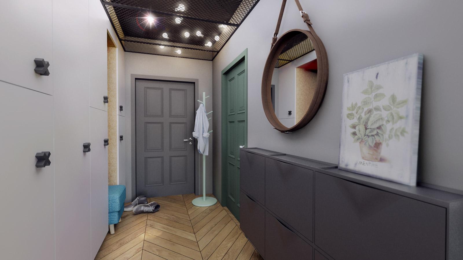 MA Zielone studio - korytarz
