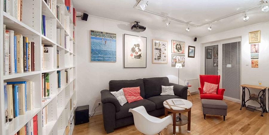 salon-architekt wnetrz krakow warszawa-aranzacja mieszkania-styl nowoczesny-mieszkanie ze sztuka-art