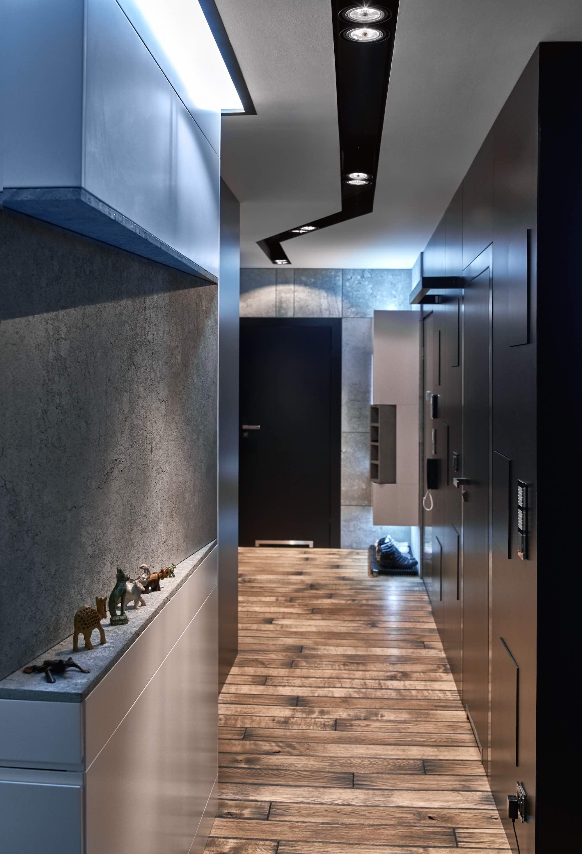 architekt wnetrz krakow warszawa-aranzacja mieszkania-styl nowoczesny-beton-wedkarz-mieszkanie singl
