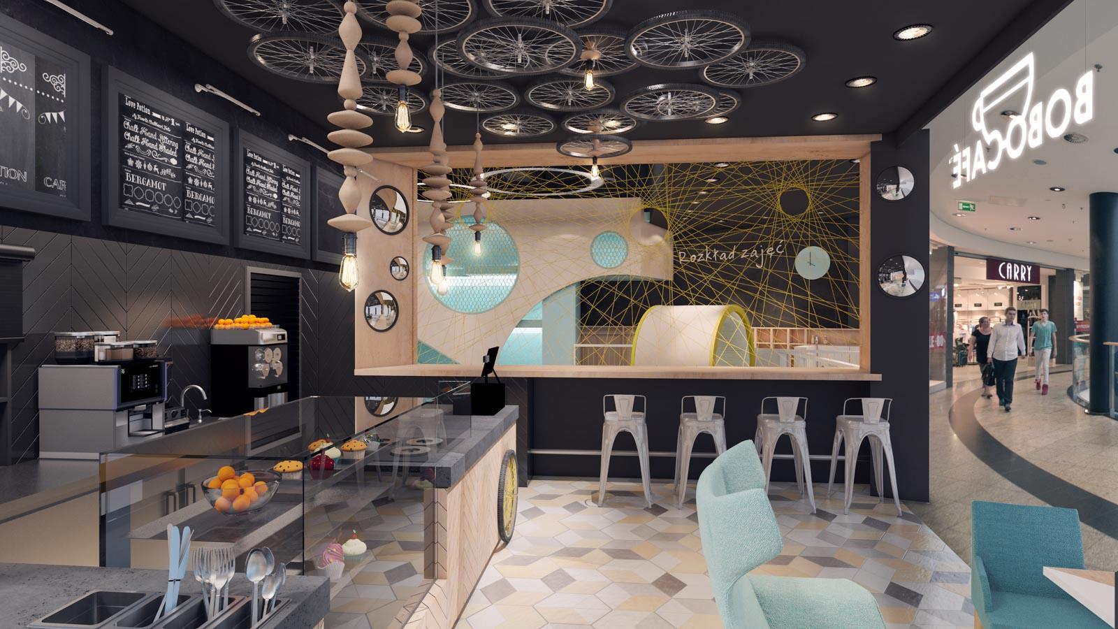 Kulkowo Bobo Cafe wnętrze