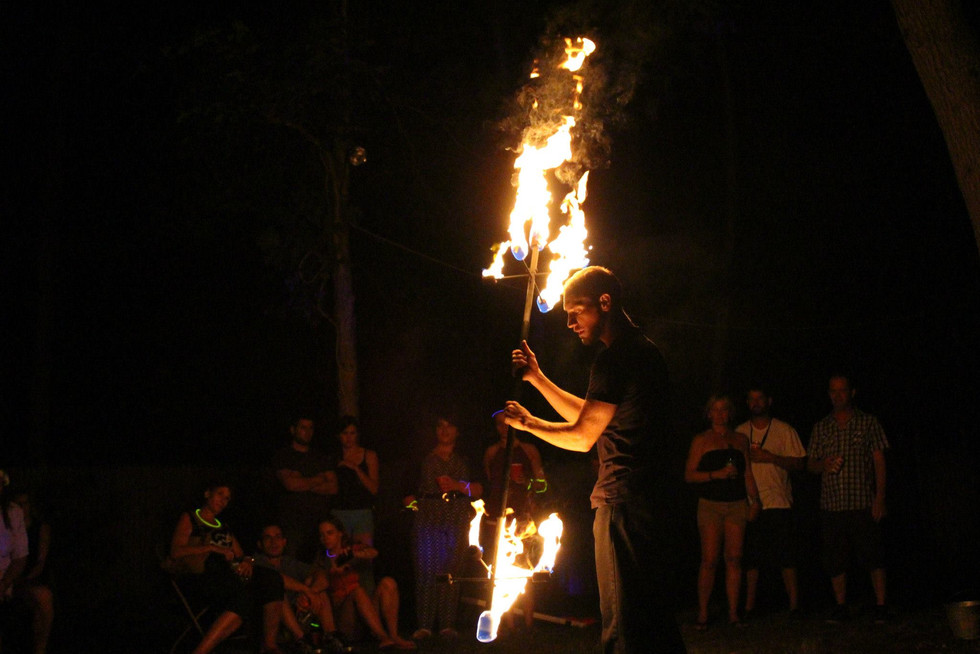 Fire Performers in NY at Jillians Party